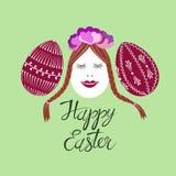 Oeufs de pâques mignons et décorés Image stock