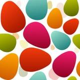Oeufs de pâques minimaux colorés sans couture Images libres de droits