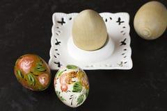 Oeufs de pâques peints à la main Images libres de droits