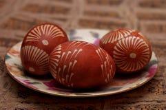 Oeufs de pâques peints à la main poland Photo libre de droits