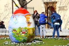 Oeufs de pâques peints Image libre de droits
