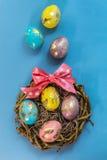 Oeufs de pâques peints Photographie stock libre de droits