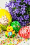 Oeufs de pâques peints faits main Image libre de droits