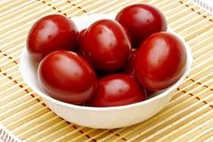 Oeufs de pâques rouges Photo stock