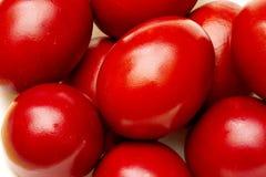 Oeufs de pâques rouges Images libres de droits