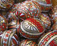 Oeufs de pâques roumains image stock