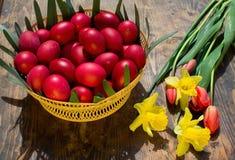 Oeufs de pâques - Roumanie Photos stock