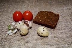 Oeufs de pâques sur un beau fond image libre de droits