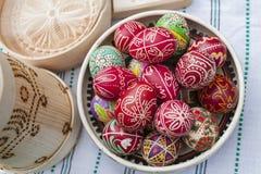 Oeufs de pâques traditionnels Photographie stock