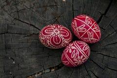 Oeufs de pâques traditionnels Image libre de droits