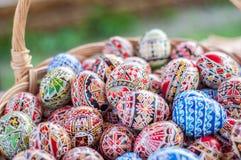 Oeufs de pâques traditionnels roumains images libres de droits