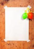 Oeufs de pâques vides de papier Photo stock