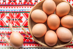 Oeufs de poulet Photo stock