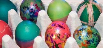 Oeufs de pâques décorés Photographie stock