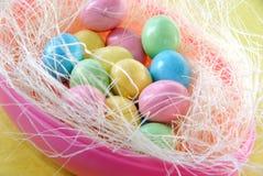 Oeufs de sucrerie de Pâques Photos stock