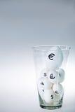 Oeufs en verre Image stock
