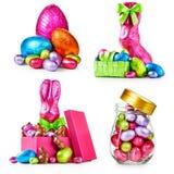 Oeufs et lapins de pâques Photos libres de droits