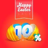 Oeufs heureux de vente de Pâques Images stock