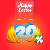 Oeufs heureux de vente de Pâques Photographie stock libre de droits