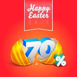 Oeufs heureux de vente de Pâques Photos stock