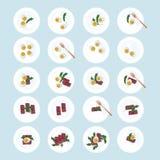 Oeufs, jambon et arugula Illustration Stock