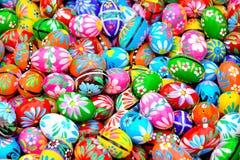 Oeufs orientaux colorés Photographie stock