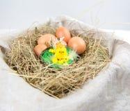 Oeufs pour des vacances de Pâques Photos stock