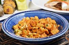 Oeufs salés sur le plat avec le tofu d'oeufs Image stock