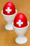 Oeufs suisses Photographie stock