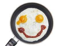 Oeufs sur le plat de sourire Images libres de droits