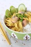 Oeufs sur le plat thaïs Image stock