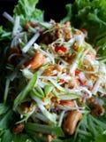Oeufs thaïlandais de crabe en fer à cheval de nourriture Photographie stock