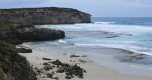 Oever in Kaap Willoughby, Kangoeroeeiland, Australi? 4K stock videobeelden