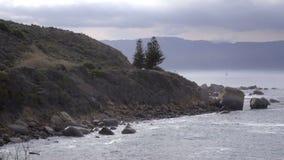 Oever langs de Kaap van Goede Hoop stock footage