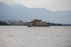 Oever van het meerstad van Dali Yunnan China Stock Afbeelding