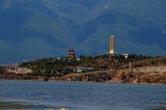 Oever van het meerstad van Dali Yunnan China Stock Fotografie