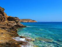 Oever van Naxos, Griekse Eilanden Stock Afbeelding