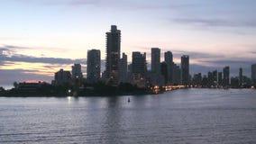 Oever van Playa DE Boca Grande in Cartagena - Colombia stock videobeelden