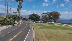 Oeverpark Santa Barbara Flyover stock footage