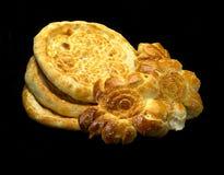 Oezbekistaans brood stock foto's