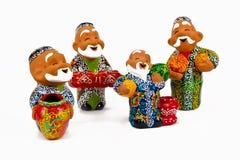 Oezbekistaanse ceramische herinnering Stock Afbeeldingen