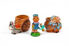 Oezbekistaanse ceramische herinneringen Royalty-vrije Stock Foto