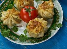 Oezbekistaanse Qovurma-manti stock foto