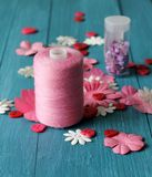 Ofício cor-de-rosa fotografia de stock