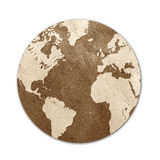 Ofício de papel recicl mundo do Tag fotos de stock