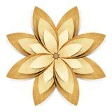 Ofício de papel recicl origami da flor fotografia de stock