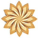 Ofício de papel recicl origami da flor imagens de stock royalty free