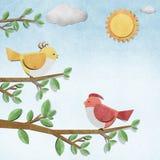 Ofício de papel recicl pássaro foto de stock royalty free