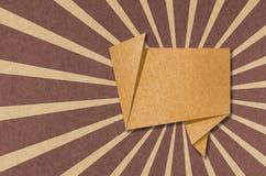 Ofício de papel recicl Tag da conversa Fotografia de Stock Royalty Free