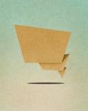 Ofício de papel recicl Tag da conversa Imagens de Stock Royalty Free
